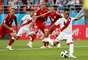 Cueva cobra pênalti pelo Peru contra a Dinamarca