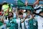 Torcida saudita estava presente na Arena Rostov, confiante em uma vitória do time contra o Uruguai