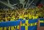 Torcida sueca também fez uma bela festa em Sochi no confronto contra a Alemanha pelo Grupo F