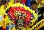 Torcedor colombiano se fantasiou para o jogo entre Polônia e Colômbia em Kazan