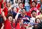 Sul-coreanos na arquibancada do Estádio de Kazan antes de Coreia do Sul x Alemanha