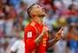 Sergio Ramos comemora o primeiro gol da Espanha contra a Rússia