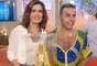 As noivas coloridas de Edson Eddel foram elogiadas por Fátima Bernardes na TV