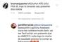'Miga, não deu para ir. Mas tô levando seu presente dos States', lamentou Bruna Marquezine no Instagram