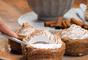 Taça de churros com mousse de chocolate