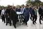 Chegada do caixão para o velório do apresentador Gugu Liberato