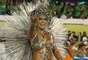 Giovanna Angélica, rainha de bateria da Mocidade Independente de Padre Miguel, na Sapucaí, terça-feira (25)