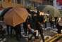 Moradores de Hong Kong protestaram contra a lei de segurança nacional