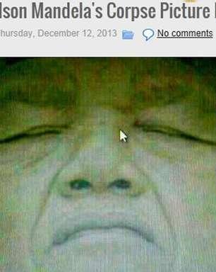 Foto de Mandela morto que circula na internet pode ser falsa