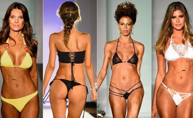 Modelos malhadas e biquínis ousados ditam verão de Miami