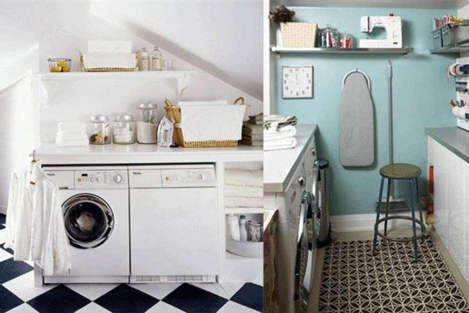 Un cuarto de lavado con estilo