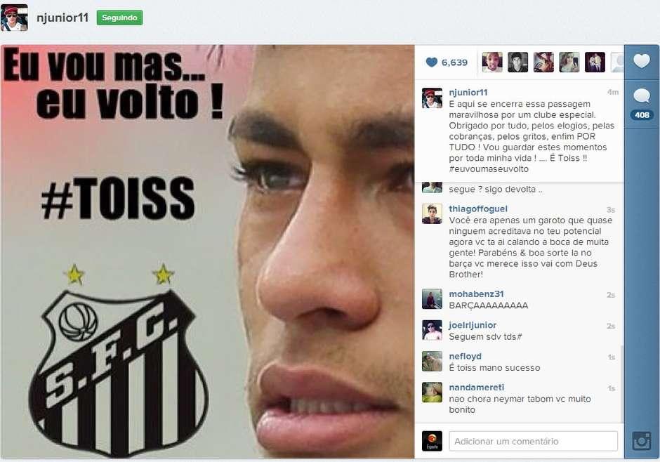 """Neymar confessa obsessão pelo Instagram  """"é a minha cara"""" 7ca184b3e1e5f"""