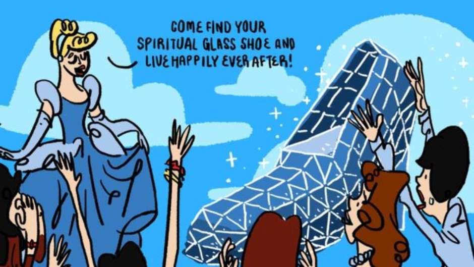 77f339f3b8d12 Taiwan inaugura igreja em forma de sapatinho de cristal 'para atrair  mulheres'