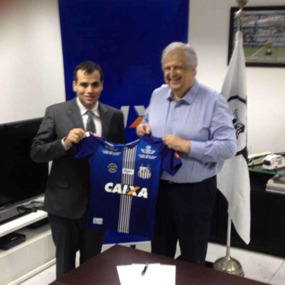 Santos acerta patrocínio e divulga 3º uniforme já com estampa da Caixa 750678755a2b1