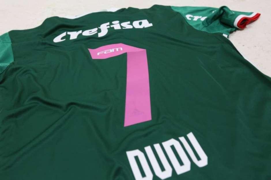 21f193d03c4c0 Camisa do Palmeiras faz referência ao Outubro Rosa (Foto  Divulgação)Foto   LANCE!