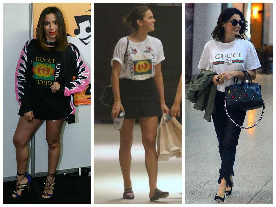 bcaa0ae2c Anitta e mais famosas usam camisetas Gucci de até R$ 2,9 mil
