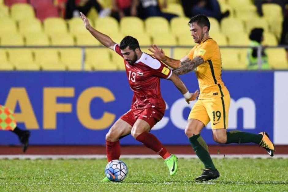 No primeiro jogo, Síria e Austrália empataram em 1 a 1.