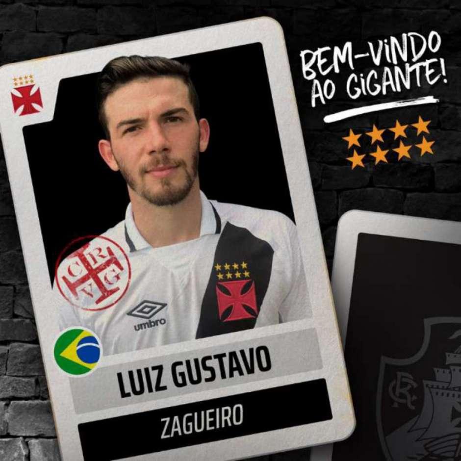 e2cc6c54cc Mais um reforço! Vasco anuncia a contratação do zagueiro Luiz Gustavo