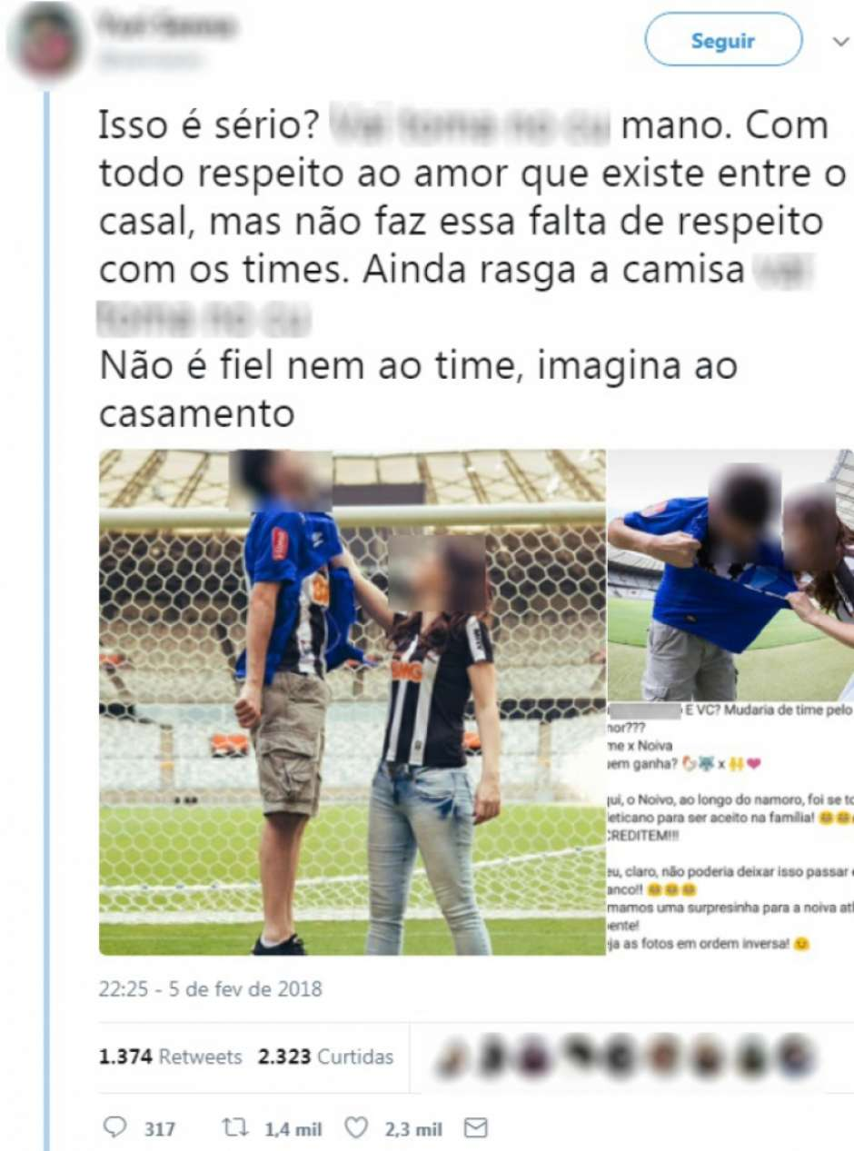 de4b83be31 Mudaria de time pelo seu amor  A história por trás do ensaio de casal com  camisa do Cruzeiro rasgada