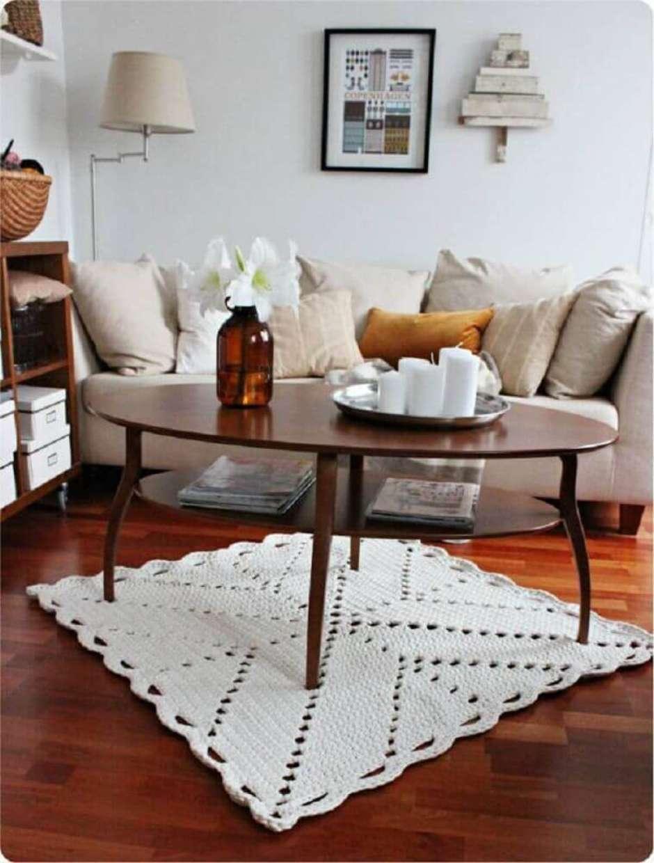 Tapete De Croch Quadrado Dicas E Modelos Para Deixar A Sua Casa  -> Tapete Pra Sala De Croche