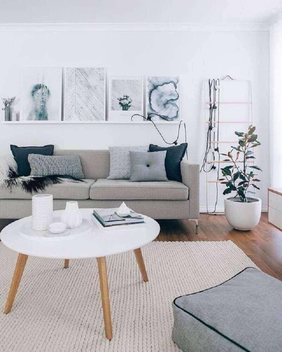 Image of: Sofa Cinza 70 Modelos De Decoracao Para Inspirar Voce