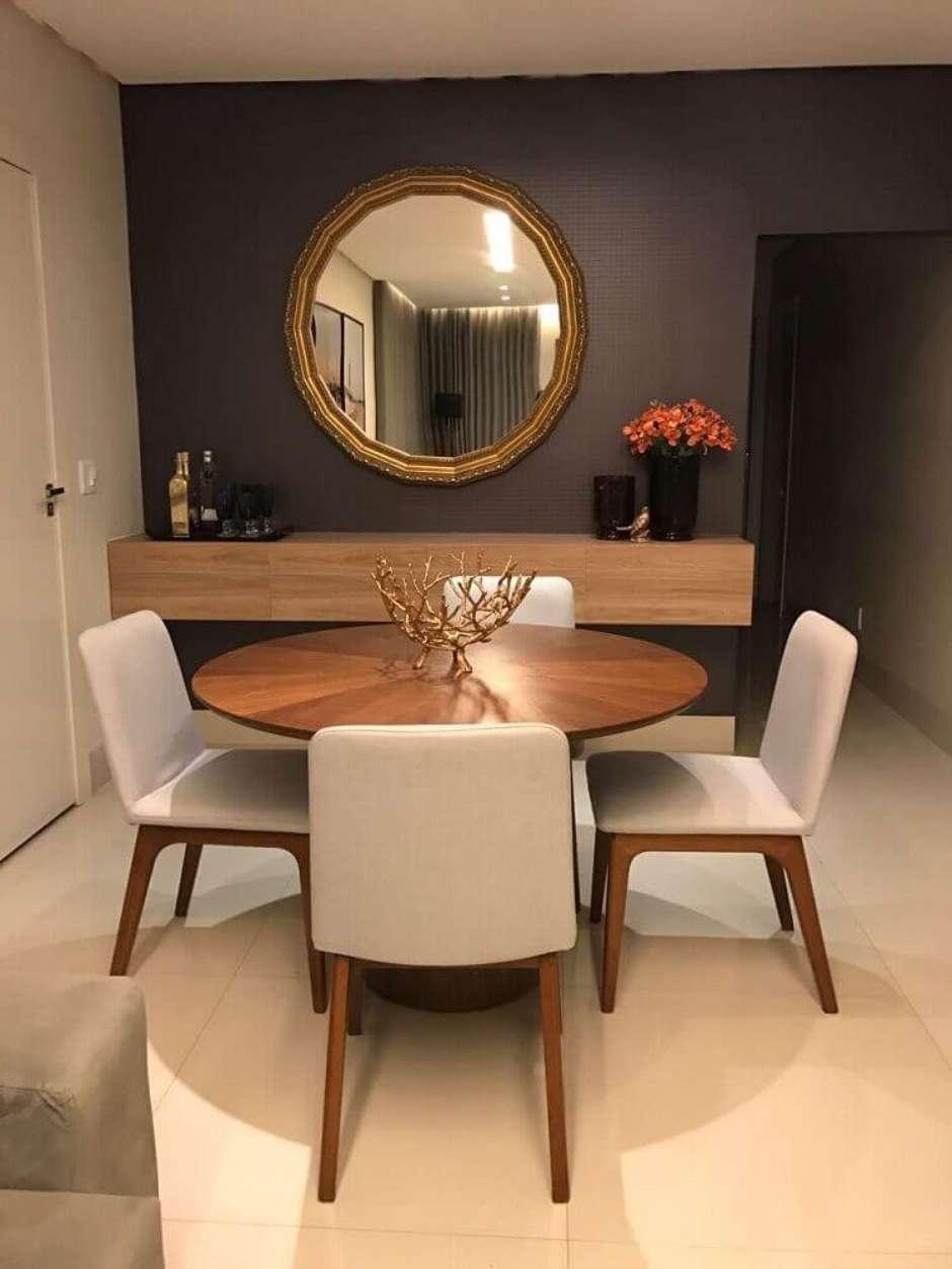 Espelho Para Sala De Jantar Dicas De Como Usar 57 Modelos Para Se  -> Sala De Jantar Com Painel De Madeira E Espelho