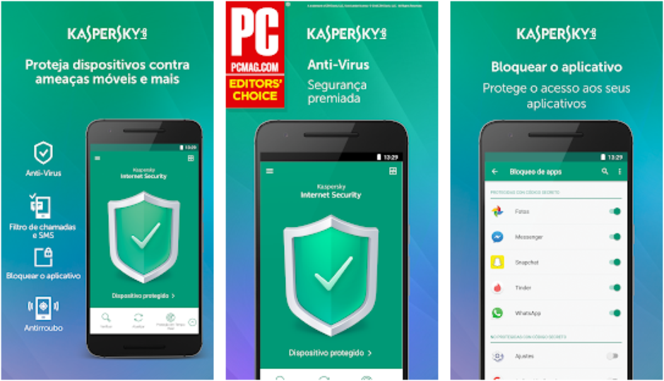bloquear celular roubado kaspersky