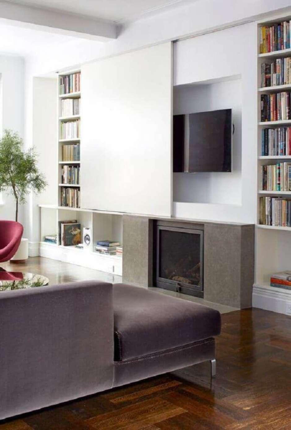 40 Modelos De Painel De Tv Para Sala -> Fotos De Salas De Tv