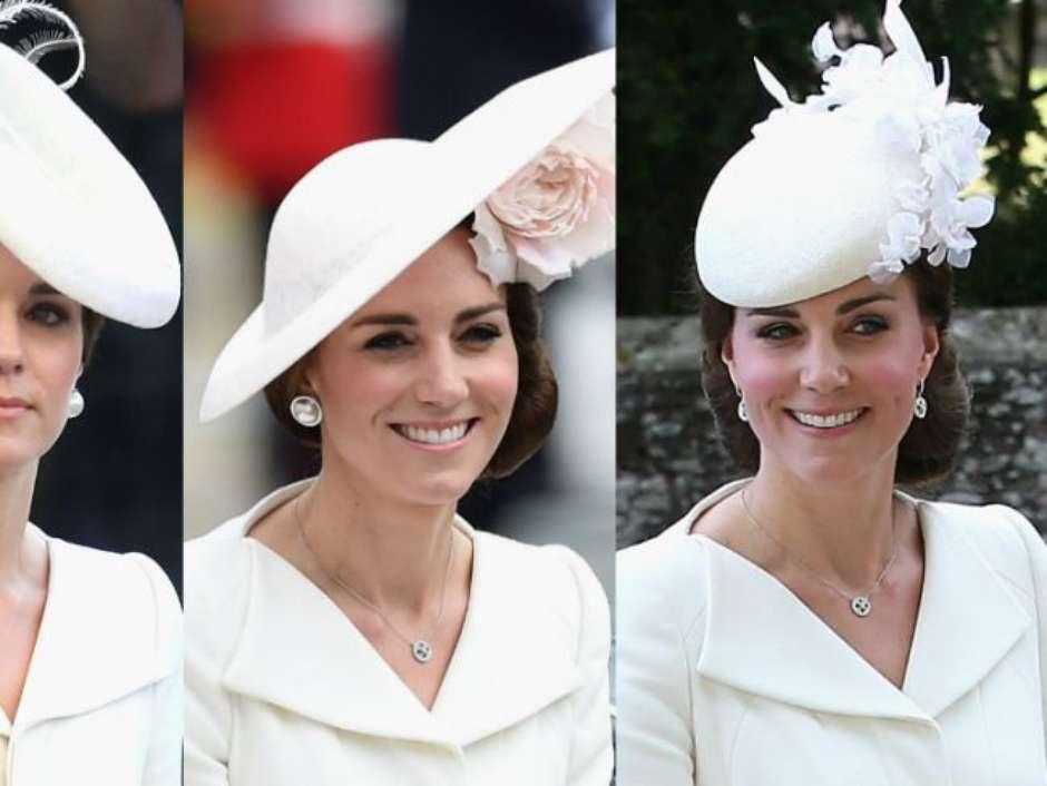e2f72750d7632 Kate Middleton repete vestido pela terceira vez em casamento do príncipe  Harry