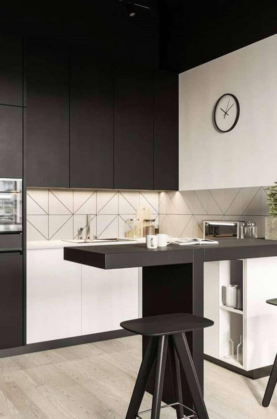 Cozinha Americana Branca E Preta Cozinha Simples Preta E Branca