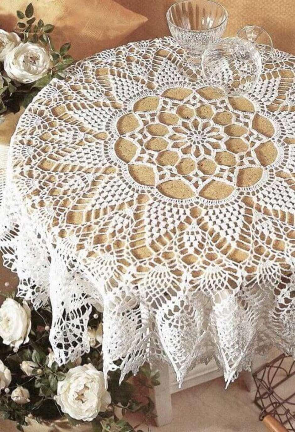 Resultado de imagem para decoração com crochê mesa de jantar