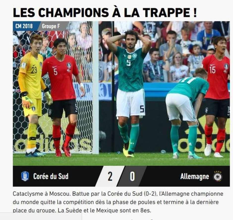 Jornais repercutem eliminação da Alemanha da Copa   Maldição mundial  3cfaabd947868