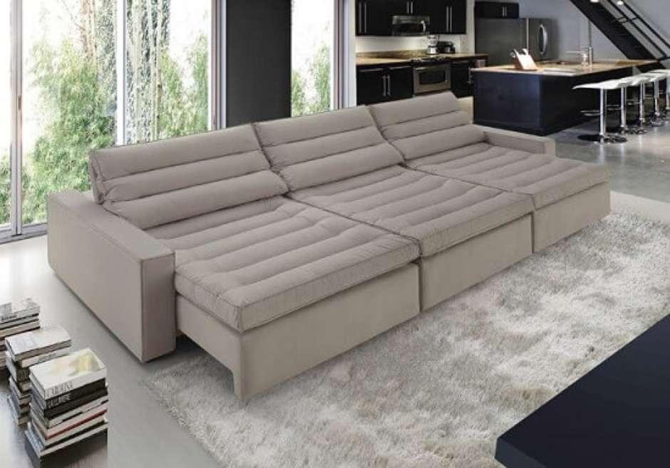 Sofa De Canto Grande Retratil E Reclinavel | Baci Living Room