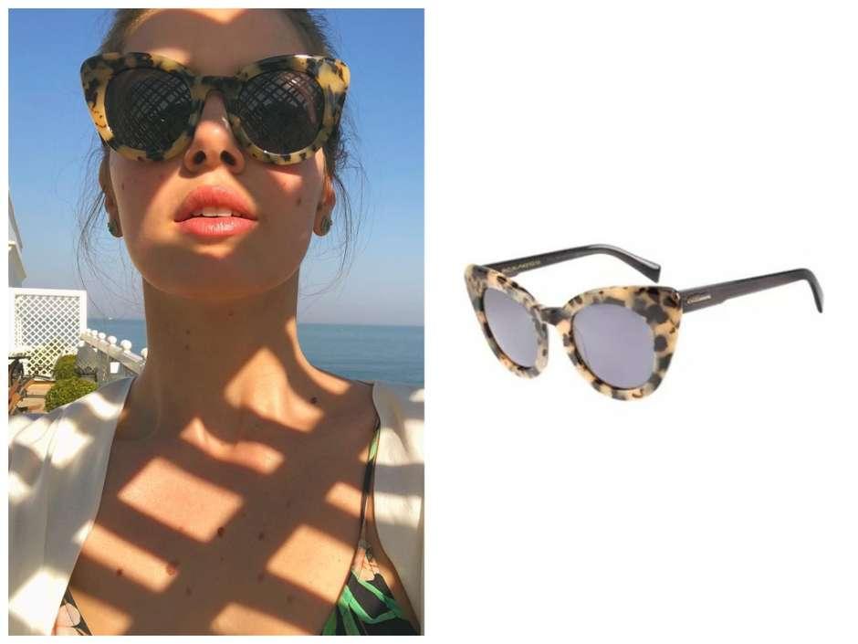 86788a3d5e399 Camila Queiroz exibe óculos da coleção da Anitta de R  290