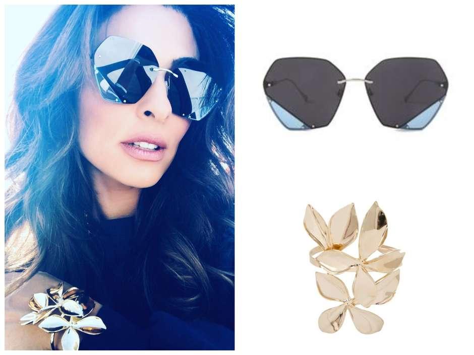 0d69d2433813b Juliana Paes exibe bracelete de R  359 e óculos geométrico