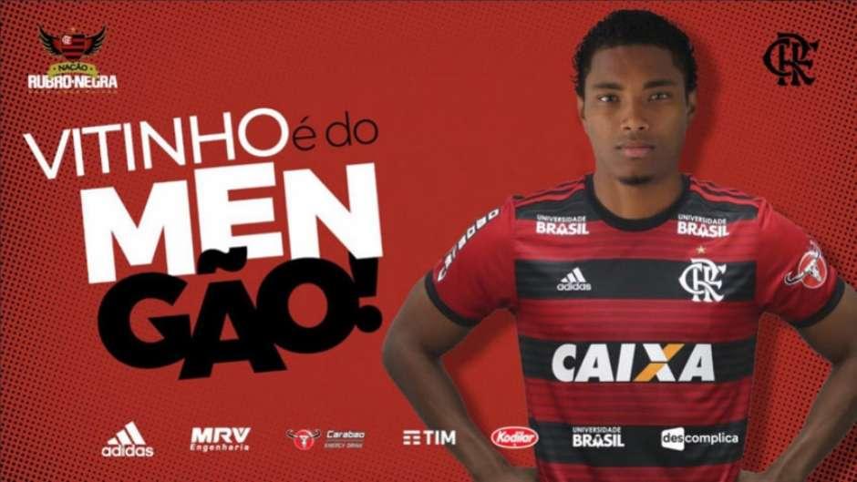 99e8cbd452d Vitinho é do Flamengo! Rubro-Negro anuncia contratação do atacante
