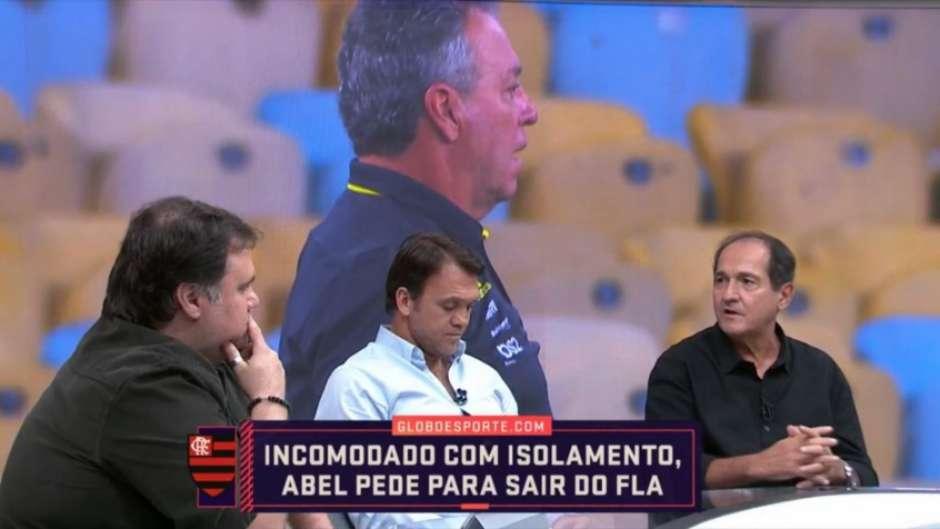 Muricy ficou do lado de Abel Braga (Foto: Reprodução/Sportv)