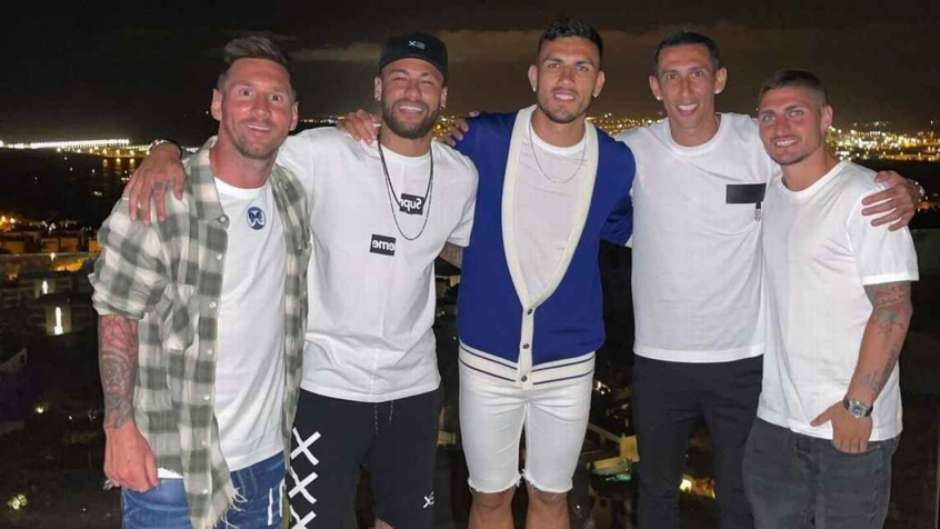 Messi encontrou-se com amigos do PSG - Reprodução/Instagram