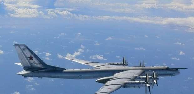 Jatos americanos interceptam bombardeiros russos no Alasca
