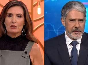 Fátima Bernardes se une a Bonner contra fala de Bolsonaro