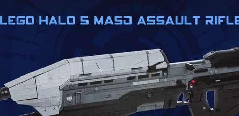 """Arma de """"Halo 5"""" é recriada com pecinhas de Lego"""