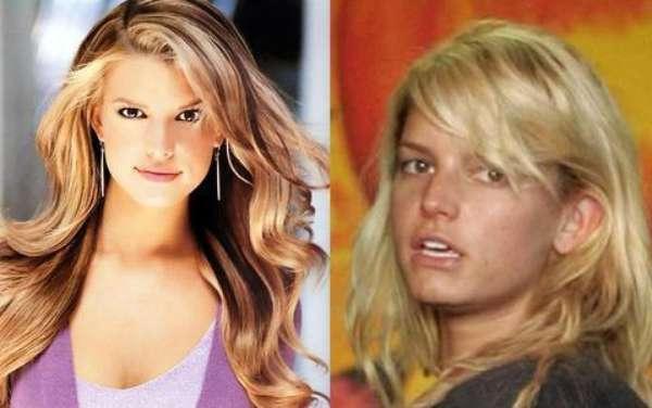 """Jessica Simpson. Sí que se nota una gran diferencia entre """"su antes y después""""."""