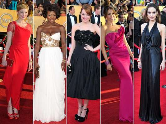 Una selección con las bellas actrices que desfilaron por la alfombra roja con perfectos trajes y accesorios. Ellas fueron las mejor vestidas en los premios SAG
