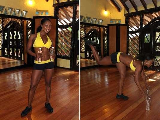 """Tiffany Rothe, instructora de fitness profesional con más de 20 años de experiencias te enseña el ejercicio """"Pompas brasileñas"""". Esta serie de ejercicios trabaja por completo tus glúteos, así que toma nota y ¡a trabajar el derrière se ha dicho!"""