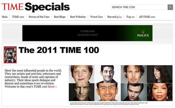 La revista Time está a punto de difundir su ya clásica lista de las personas más influyentes del año. Eso será el 17 de abril, pero este viernes cerró la votación del público, que si bien no es terminante (luego los editores de la revista tienen la decisión final), lo cierto es que puede ser una muestra de lo que vendrá. En 2011, Wael Ghonim, vocero de la revolución de Egipto, estuvo en los primeros lugares.