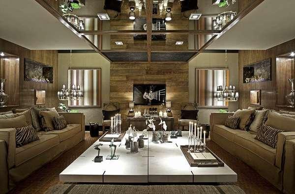 Inspire se em 10 ambientes com decora o r stica for Sala rustica moderna