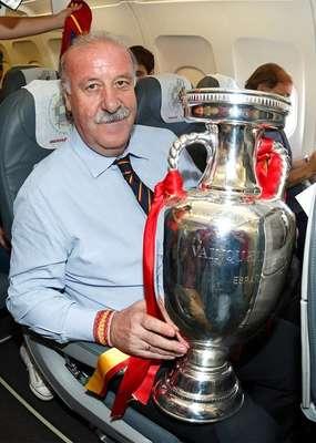 La selección española llegó a Madrid para festejar con su gente el título de la Eurocopa 2012.