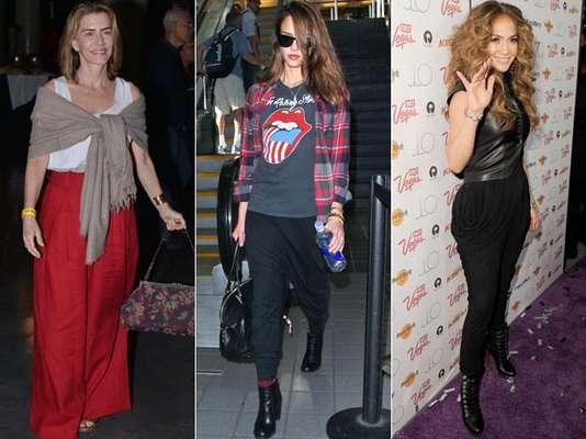 As mulheres gostam, sim, de usar saias e vestidos, mas a calça comprida é a opção escolhida na maioria das vezes. Confortáveis e versáteis, elas são responsáveis por compor looks que vão desde os mais casuais e modernos até os mais elegantes e elaborados