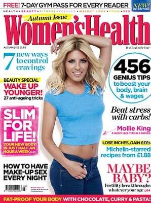 Mollie King, integrante do quinteto pop inglês The Saturdays, é capa da revista Women's Health do Reino Unido. Apontada como affair de Príncipe Harry, ela falou à publicação como mantém a boa forma física
