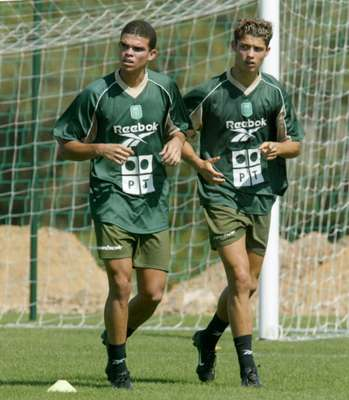 Cristiano Ronaldo (along with Pepe) began his professional career with Sporting de Lisboa, in 2002.